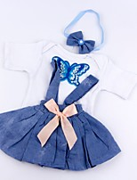 cheap -Reborn Baby Dolls Clothes Reborn Doll Accesories Cotton Fabric for 17-18 Inch Reborn Doll Not Include Reborn Doll Skirt Soft Pure Handmade Girls' 3 pcs
