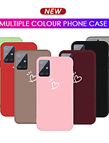 cheap -Colorful Love Heart Phone Case For Samsung Galaxy A91 A81 A71 A51  A21 A11 A01 A70 A50  A40 A30 A10 S10 Lite  s20  s20 Plus S20Ultra Candy Color Soft TPU Back Cover