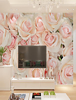 cheap -Custom Self-adhesive Mural Rose Picture Suitable for Background Wall Restaurant Bedroom Hotel Wall Decoration Art  Home Decoration