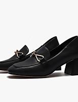 cheap -Women's Heels Summer Block Heel Closed Toe Daily Synthetics Black / Beige