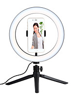 cheap -26cm 10inch LED Selfie Ring Light Dimmable LED Ring Lamp Photo Video Camera Phone Light Ringlight For Live YouTube Fill Light