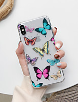 cheap -Case For Apple iPhone 6 7 8 iPhone 11 iPhone 11 Pro iPhone 11 Pro Max Transparent Back Cover with Butterfly Sofe TPU New