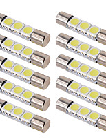 cheap -10pcs C5W T6 Car Led Bulbs 28MM 31MM Car Interior Festoon Dome Reading Light Source White ice bule Side License plate Lamp 12V