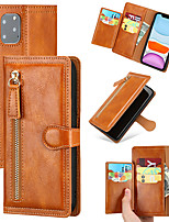 cheap -Case For Apple / Samsung Galaxy Wallet / Shockproof Full Body Cases / Bumper Solid Colored PU Leather