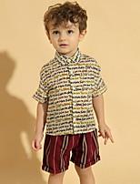 cheap -Kids Toddler Boys' Basic Print Short Sleeve Clothing Set Blue