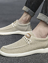 cheap -Men's Summer Classic / Preppy Daily Outdoor Sneakers Walking Shoes Canvas Breathable Wear Proof Beige / Gray