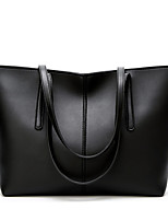 cheap -Women's PU Leather / Polyester Top Handle Bag Leather Bags Solid Color Black / Red / Green / Fall & Winter
