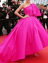 cheap -Ball Gown Celebrity Style Luxurious Wedding Guest Prom Dress One Shoulder Sleeveless Court Train Taffeta with Bow(s) 2020