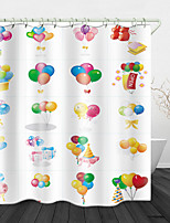 cheap -Colorful Romantic Balloons Digital Print Waterproof Fabric Shower Curtain for Bathroom Home Decor Covered Bathtub Curtains Liner Includes with Hooks