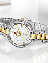 cheap -Women's Quartz Watches Elegant Sparkle Alloy Quartz Rose Gold White+Golden White Water Resistant / Waterproof Calendar / date / day Analog / Stainless Steel