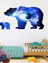 Недорогие -космическое звездное небо планета медведь силуэт стикеры стены животных стикеры стены декоративные наклейки на стены пвх украшения дома наклейки на стены украшения стены 1 шт.
