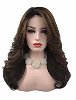 cheap -Synthetic Wig Curly Asymmetrical Wig Very Long Brown Synthetic Hair 26 inch Women's Classic Best Quality curling Brown