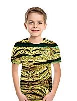 cheap -Kids Boys' Street chic Geometric Short Sleeve Tee Black