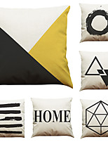 cheap -6 pcs Linen Pillow Cover Creative Nordic Geometric Linen Pillow Case Car Pillow Cushion Sofa Pillow Pillow Office Nap Pillow