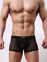 cheap -Men's Mesh / Basic Boxers Underwear / Briefs Underwear - Normal Low Waist White Black Blue S M L