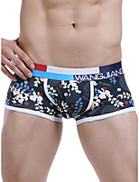 cheap -Men's Basic Boxers Underwear - Normal Low Waist White Blue Red S M L