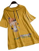 cheap -Women's Graphic T-shirt Daily Wine / Black / Yellow / Blushing Pink / Green / Gray