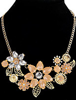 cheap -Women's Choker Necklace Collar Necklace Flower Fashion Resin Glass Chrome Blushing Pink 45 cm Necklace Jewelry For Christmas Party Evening Street Beach