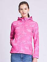 cheap -DZRZVD® Women's Hiking Jacket Hiking Windbreaker Summer Outdoor Thermal / Warm Windproof Breathable Quick Dry Top Elastane Single Slider Hunting Fishing Climbing Pink / Green / Rose Red