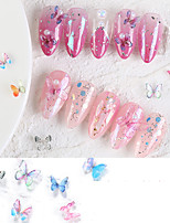 cheap -2 pcs Creative / Durable Acrylic Nail Jewelry For Finger Nail Butterfly nail art Manicure Pedicure Party / Evening / Festival Romantic / Cute
