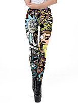 cheap -Inspired by Rick and Morty Pants Polyster Printing Pants For Women's