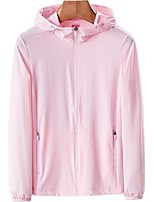 cheap -DZRZVD® Women's Hiking Jacket Summer Outdoor Windproof Breathable Quick Dry Ultraviolet Resistant Top Elastane Single Slider Fishing Climbing Beach White / Pink / Orange / Rose Red