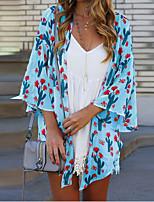 cheap -Women's Tunic Geometric Tops V Neck Daily Summer White Black Yellow S M L XL 2XL