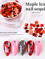 cheap -6 pcs Irregular Manicure Sequins Christmas Manicure Mixed Color Maple Leaf Decoration