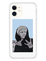 cheap -Case For Apple iPhone 11 11 Pro 11 Pro Max XS XR XS Max 8 Plus 7 Plus 6S Plus 8 7 6 6s SE 5 5S Transparent Pattern Back Cover Statue of Funny Soft TPU