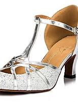 cheap -Women's Dance Shoes Latin Shoes Heel Cuban Heel Black / Gold / Silver / Performance