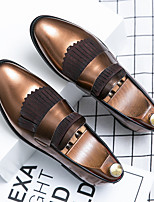 cheap -Men's Summer Casual Daily Loafers & Slip-Ons Walking Shoes PU Breathable Non-slipping Wear Proof Blue / Brown