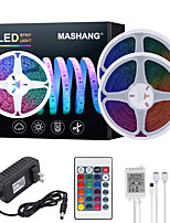 cheap -MASHANG 32.8ft 10M LED Strip Lights RGB Tiktok Lights Waterproof 600LEDs SMD 2835 with 24 Keys IR Remote Controller and 100-240V Adapter for Home Bedroom Kitchen TV Back Lights DIY Deco