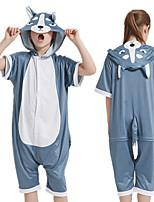 cheap -Kid's Kigurumi Pajamas Husky Onesie Pajamas Silk Fabric Gray Cosplay For Boys and Girls Animal Sleepwear Cartoon Festival / Holiday Costumes / Leotard / Onesie
