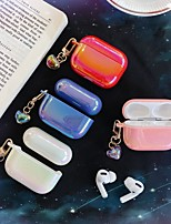 cheap -Plating Shockproof Gradient Headphone Cases For Apple Airpods pro soft shell Case Cover Charging Box Shell For AirPods Pro tective Cover