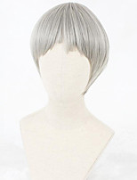 cheap -Cosplay Wig Lolita Straight Cosplay Halloween Bob Neat Bang Wig Short Grey Synthetic Hair 12 inch Women's Anime Cosplay Comfortable Gray
