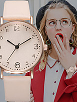 cheap -Women's Quartz Watches Quartz Modern Style Stylish Casual Casual Watch PU Leather Black / Red / Brown Analog - Black Red Blushing Pink One Year Battery Life