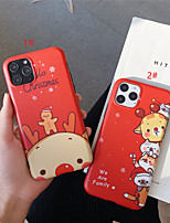 cheap -Frosted IMD Merry Christmas TPU for Apple iPhone Case 11 Pro Max X XR XS Max 8 Plus 7 Plus SE(2020) Protection Cover