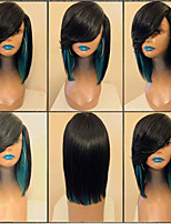cheap -Synthetic Wig kinky Straight Layered Haircut Wig Medium Length Black / Green Black / Purple Black / Red Black / Pink Synthetic Hair 38~42 inch Women's New Arrival Red Pink