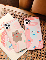 cheap -Case For Apple iPhone 11 Pro Max / iPhone XR Shockproof / Dustproof / IMD Back Cover Animal TPU