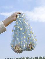 cheap -Women's Nylon Top Handle Bag Floral Print White / Blue / Blushing Pink