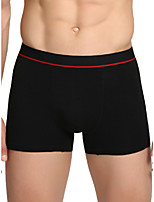 cheap -Men's Basic Boxers Underwear - Normal Mid Waist Black Gray S M L