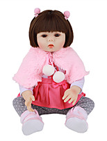 cheap -FeelWind 18 inch Reborn Doll Baby & Toddler Toy Reborn Toddler Doll Baby Girl Gift Cute Lovely Parent-Child Interaction Tipped and Sealed Nails Full Body Silicone LV027 with Clothes and Accessories