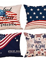 cheap -Set of 4 Independence Day Room Decoration Pillow Cover 4th Of July Pillow Cases Sofa Cushion Cover Home Pillow Case Pillow Covers