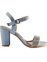 cheap -Women's Sandals Summer Pumps Open Toe Daily PU Blue