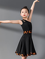 cheap -Kids' Dancewear Dress Split Joint Girls' Training Performance Sleeveless Natural Nylon