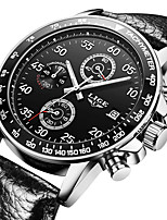 cheap -LIGE Men's Sport Watch Quartz Modern Style Stylish Stainless Steel Black / Silver Water Resistant / Waterproof Day Date Analog Casual Cool - Black / Silver White+Silver Black