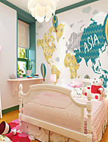 cheap -Home Decoration Custom Self Adhesive Mural Wallpaper Balloon Map Children's Cartoon Style Suitable For Bedroom Children's Room