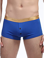 cheap -Men's Basic Boxers Underwear - Normal Low Waist Wine Blue Green S M L