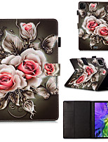 cheap -Case For Samsung Galaxy Samsung Tab A 8.0(2019)T290/295 / Samsung Tab S6 T860/865 / Samsung Tab A8(2019)P200/205 with Stand / Flip / Pattern Full Body Cases Flower PU Leather