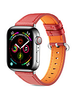 cheap -Watch Band forApple Watch Series 6 SE 5 4 3 2 1 Apple Leather Loop Genuine Leather Wrist Strap